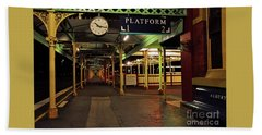 Beach Towel featuring the photograph Beautiful Old Albury Station By Kaye Menner by Kaye Menner