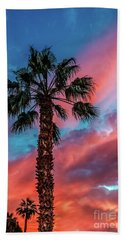 Beautiful Palm Tree Beach Towel by Robert Bales