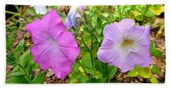Beautiful Petunia Flower 2 Beach Towel