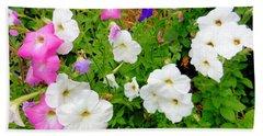Beautiful Petunia Flower 5 Beach Towel