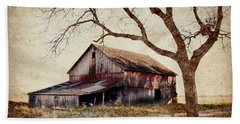 Beautiful Red Barn-near Ogden Beach Towel