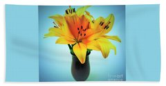 Beach Sheet featuring the photograph Beautiful Royal Lilies  by Ray Shrewsberry
