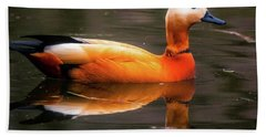 Beach Towel featuring the photograph Beautiful Rust Goose by The 3 Cats