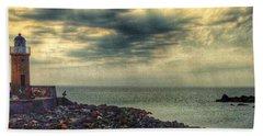 Beautiful Skies At Portpatrick 2 Beach Sheet