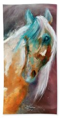 Beach Towel featuring the painting Beautiful Spirit by Barbie Batson