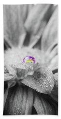 Beautiful Splash Of Purple On A Daisy In The Garden Beach Towel