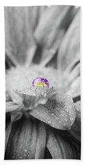 Beautiful Splash Of Purple On A Daisy In The Garden Beach Sheet