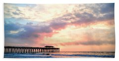 Beautiful Sunrise In Myrtle Beach South Carolina Usa Beach Sheet