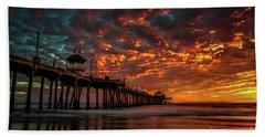 Beautiful Sunset Beach Towel by Peter Dang