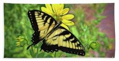 Beautiful Swallowtail Butterfly Beach Sheet