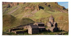 Beautiful Vorotnavank Monastery At Evening, Armenia Beach Towel