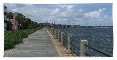 Beautiful Waterfront Walkway Beach Towel