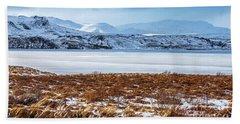 Beautiful Winter Landscape Beach Sheet