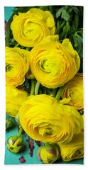 Beautiful Yellow Ranunculus Beach Towel