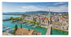 Beautiful Zurich Beach Sheet by JR Photography
