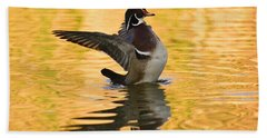 Wood Duck Sunset  Beach Sheet