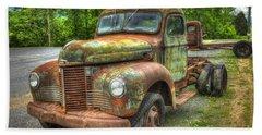 Beauty And The Best 1947 International Harvester Kb 5 Truck Beach Towel