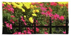 Beach Towel featuring the photograph Beauty Beyond The Gate by Trina Ansel