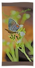 Beauty Flutters By Beach Towel