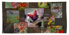 Beauty In Butterflies Beach Sheet by DigiArt Diaries by Vicky B Fuller