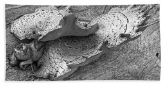 Beauty In Decay - Tree Fungus Bw Beach Towel