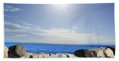 Beauty In The Distance Beach Towel by Judy Palkimas