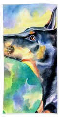 Doberman Pinscher Beach Towels