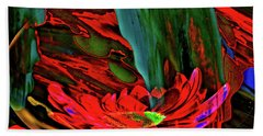 Beauty Of A Flower Abstract Beach Towel