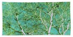 Beauty Of An Aqua Sky Beach Sheet by Ann Johndro-Collins