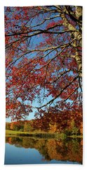 Beach Sheet featuring the photograph Beauty Of Fall by Karol Livote