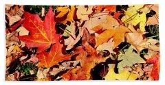 Beauty Of Fallen Leaves Beach Sheet