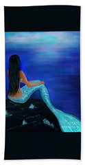 Beach Towel featuring the painting Beauty Of The Isle by Leslie Allen