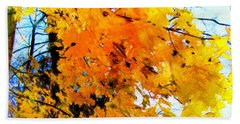 Beauty Of The Leaves Beach Towel