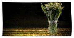 Vase Of Flowers Photographs Beach Towels