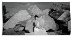 Beauty On The Rocks Beach Sheet