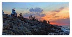 Beauty On The Rocks Beach Towel