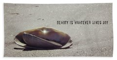 Beauty Star Quote Beach Sheet
