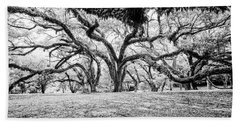 Beauty Under The Branches - Bw Beach Towel