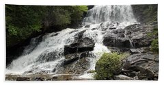 Beaver Brook Falls Beach Towel by Catherine Gagne