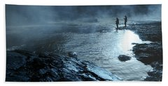 Beach Towel featuring the photograph Beaver's Ben Fog Fishing by Tamyra Ayles