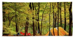 Beach Sheet featuring the photograph Beaver's Bend Camping by Tamyra Ayles