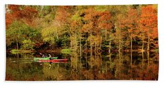 Beach Sheet featuring the photograph Beaver's Bend Canoeing by Tamyra Ayles