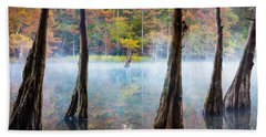 Beavers Bend Cypress Grove Beach Towel by Inge Johnsson