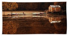 Beach Sheet featuring the photograph Beaver's Bend Quiet Morning by Tamyra Ayles