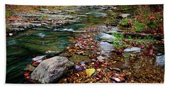 Beach Towel featuring the photograph Beaver's Bend Tiny Stream by Tamyra Ayles
