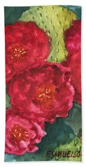 Beavertail Cactus Beach Towel by Eric Samuelson