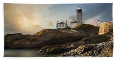 Beavertail Light Beach Sheet by Robin-Lee Vieira