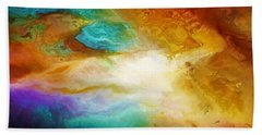 Becoming - Abstract Art Beach Sheet by Jaison Cianelli