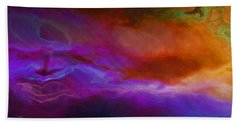 Becoming - Abstract Art - Triptych 1 Of 3 Beach Towel by Jaison Cianelli