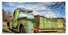 Bed Full Of Clouds Beach Sheet by Robert FERD Frank